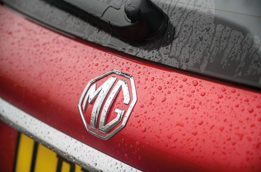 MG 5 SW EV 2020 Révision de l'essai routier - badge arrière