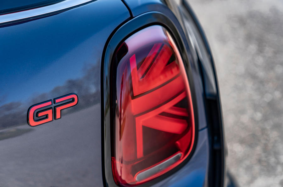 Mini JCW GP 2020 road test review - rear lights