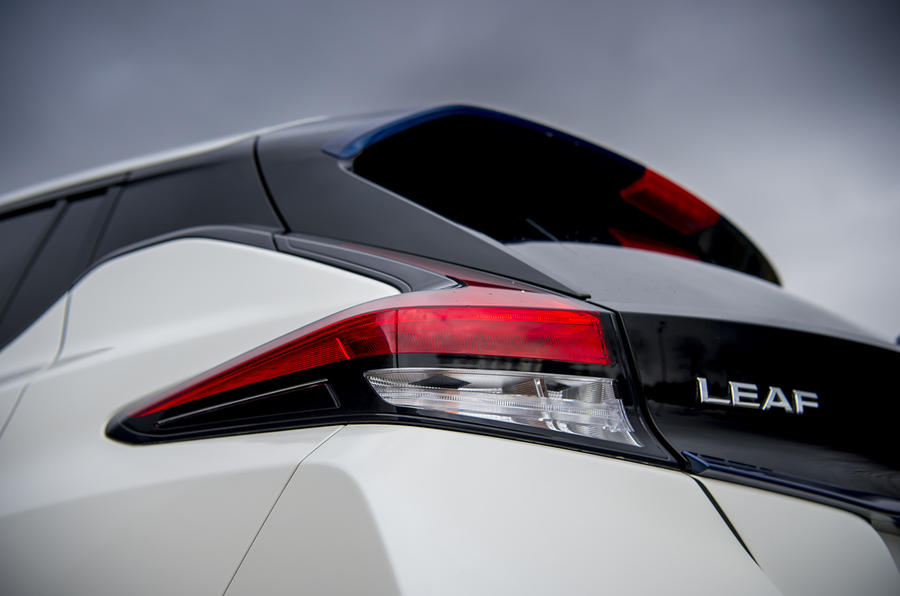 Nissan Leaf 2018 UK review rear lights