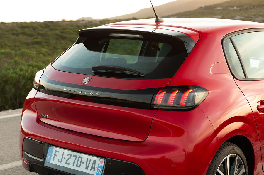 Peugeot 208 2020 road test review - rear end