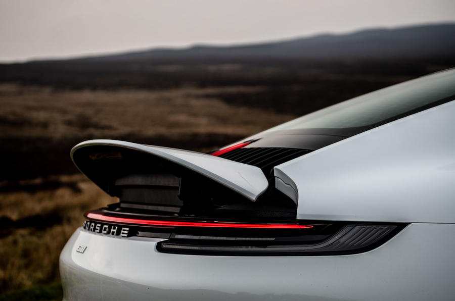 Porsche 911 Carrera S 2019 road test review - spoiler