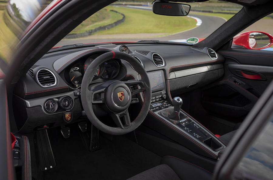 Porsche 718 Cayman GT4 2019 road test review - dashboard