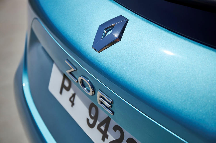 Renault Zoe 2020 road test review - rear badge