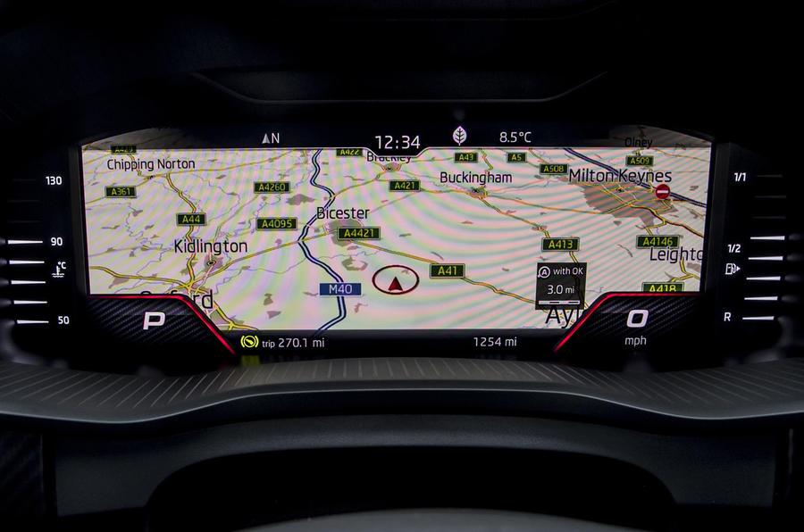 Skoda Kodiaq vRS 2019 road test review - satnav