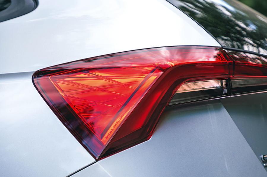 Skoda Scala 2019 road test review - rear lights