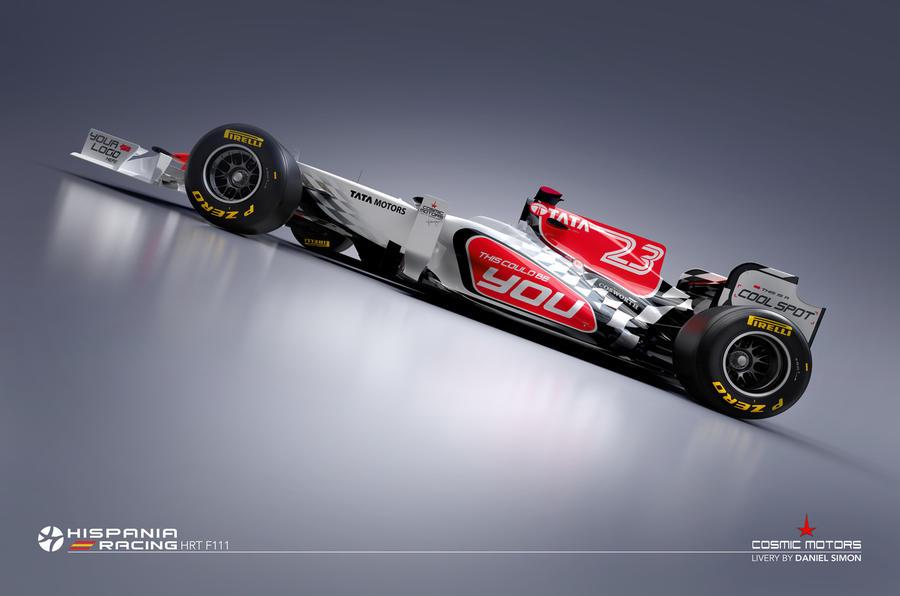HRT reveals new 2011 F1 car