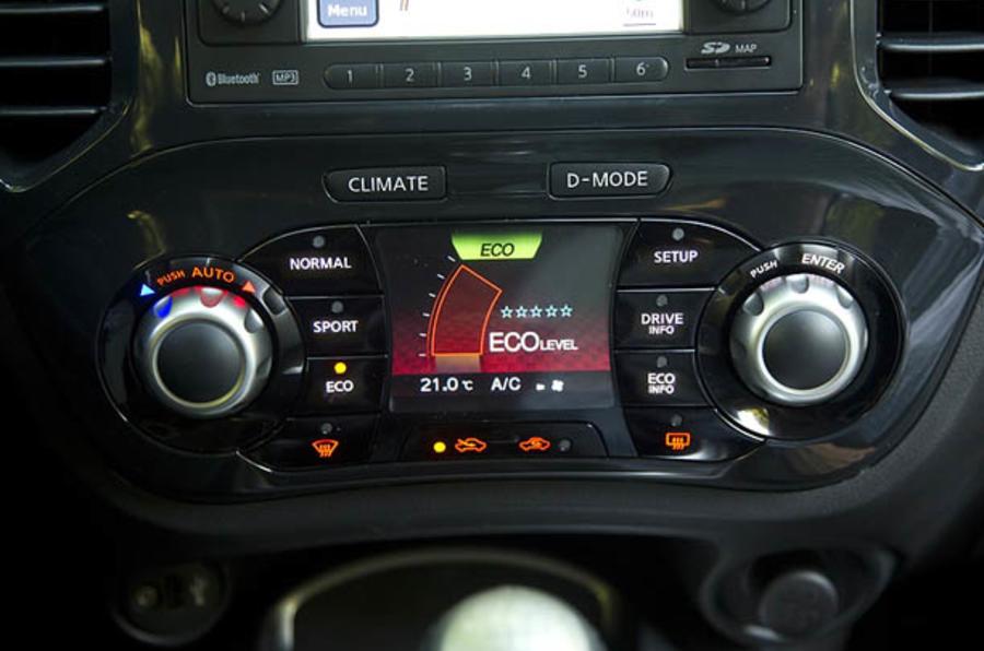 Nissan Juke climate control