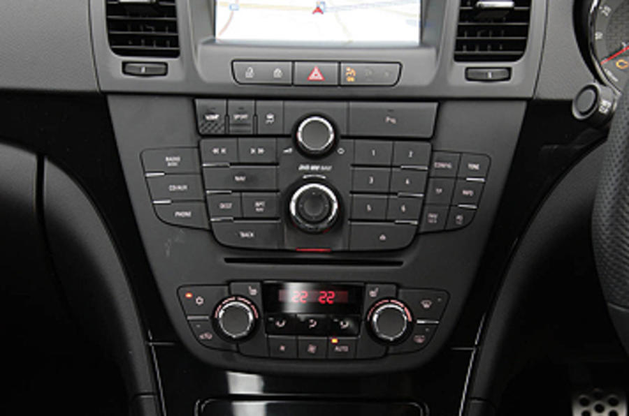 Vauxhall Insignia VXR centre console