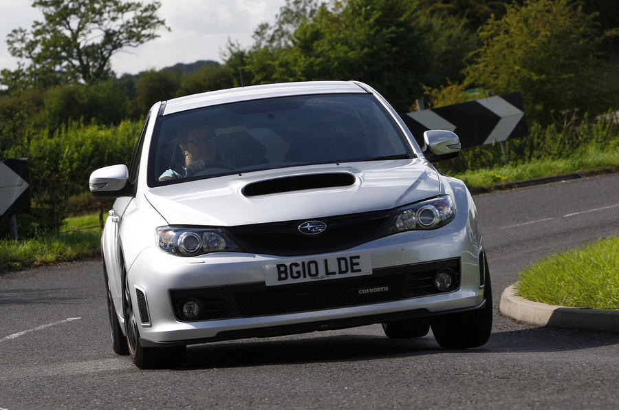 Cosworth Impreza STi CS400 hard cornering