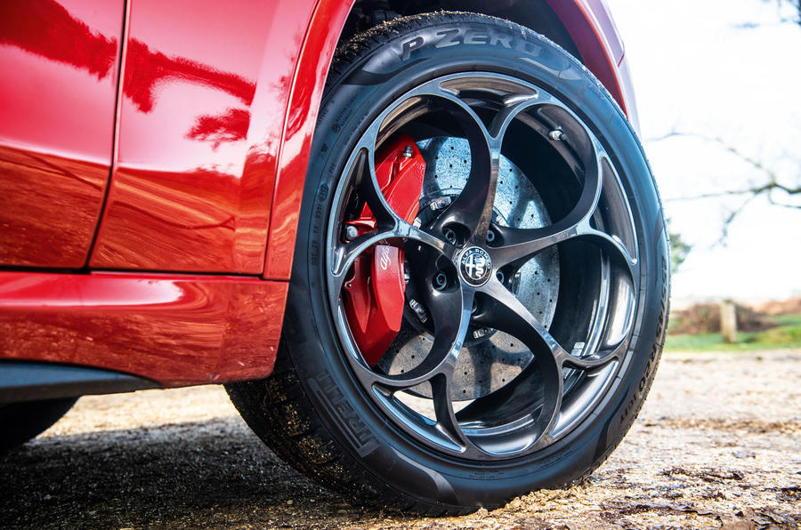 Alfa Romeo Stelvio Quadrifoglio 2019 road test review - alloy wheels