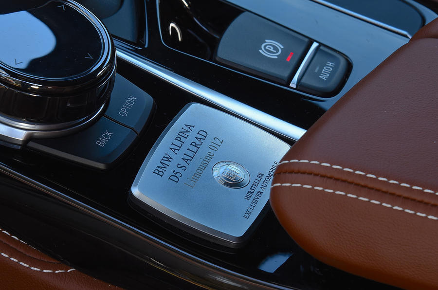 Alpina D5 S review bespoke plaque