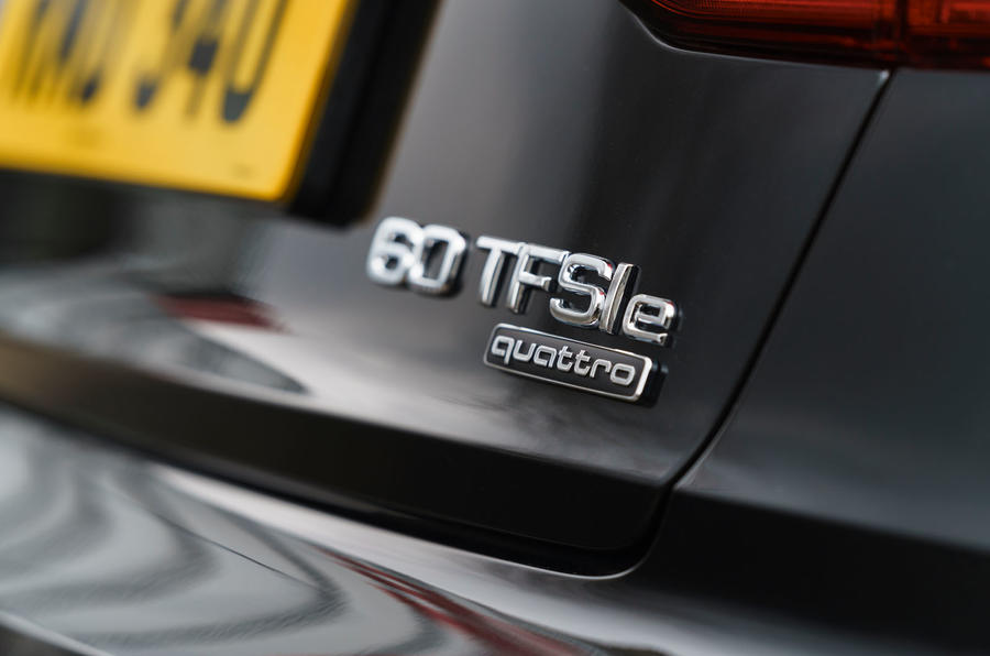 Audi A8 60 TFSIe 2020 road test review - rear badge