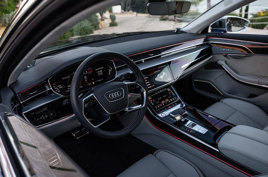 Audi S8 2020 road test review - dashboard