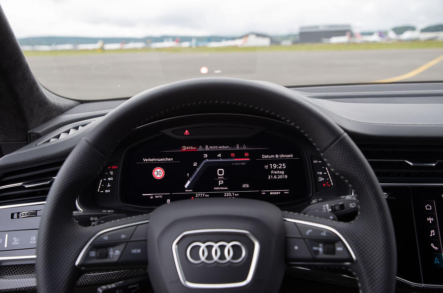 Audi SQ8 2019 road test review - instruments