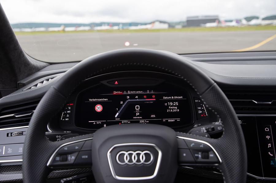 Audi SQ8 2019 road test review - instruments