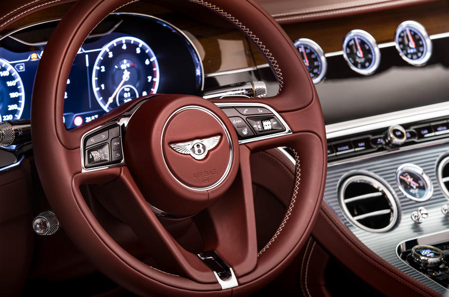 Bentley Continental GTC 2019 first drive review - steering wheel
