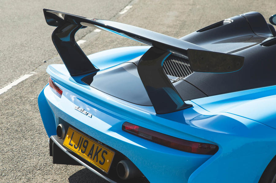 Dallara Stradale 2019 road test review - spoiler rear