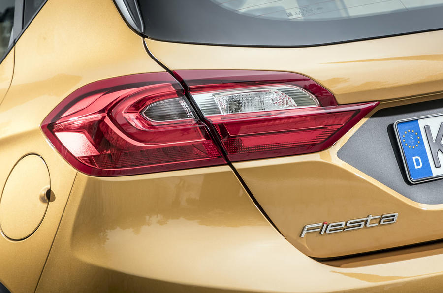Ford Fiesta Active 2018 road test review rear lights