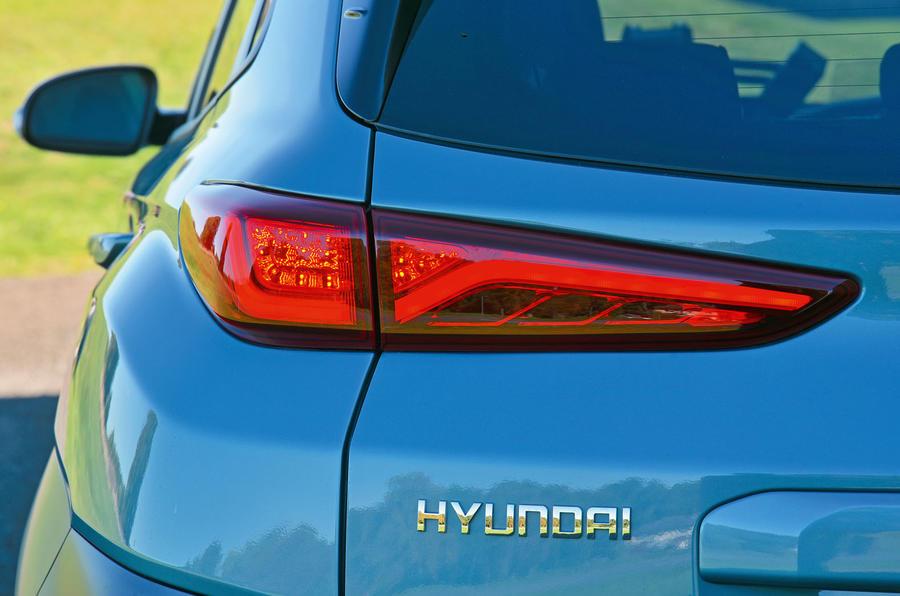 Hyundai Kona Electric 2018 road test review - rear lights