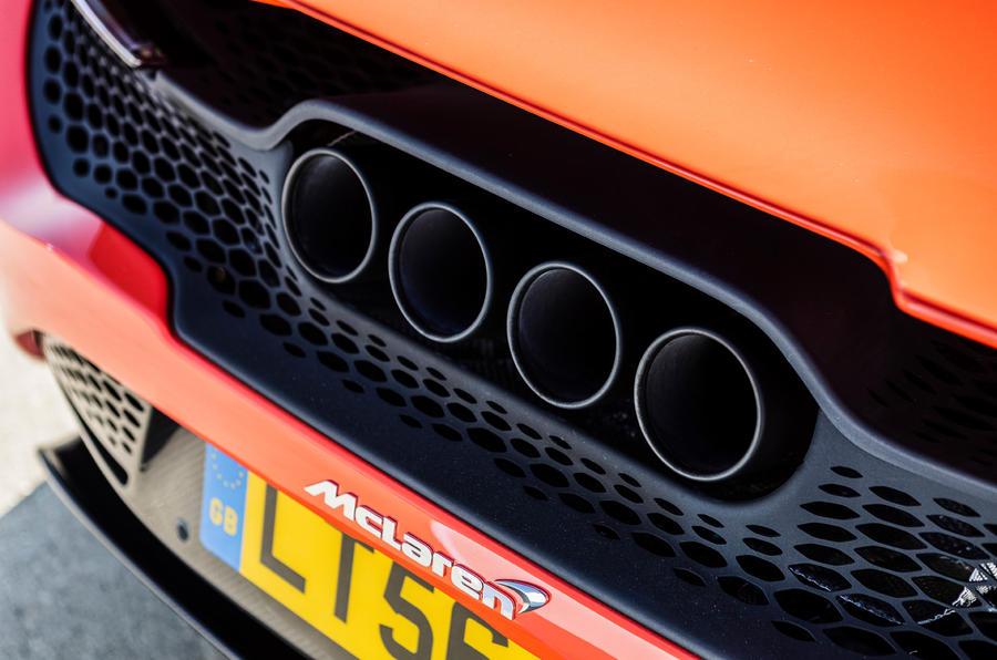 McLaren 765LT 2020 road test review - exhausts
