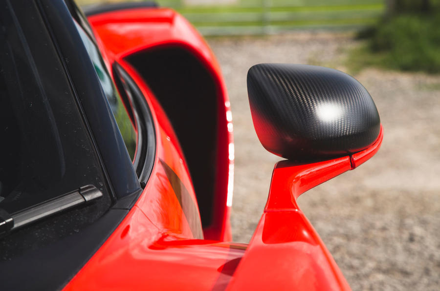 McLaren Senna 2018 road test review - wing mirrors