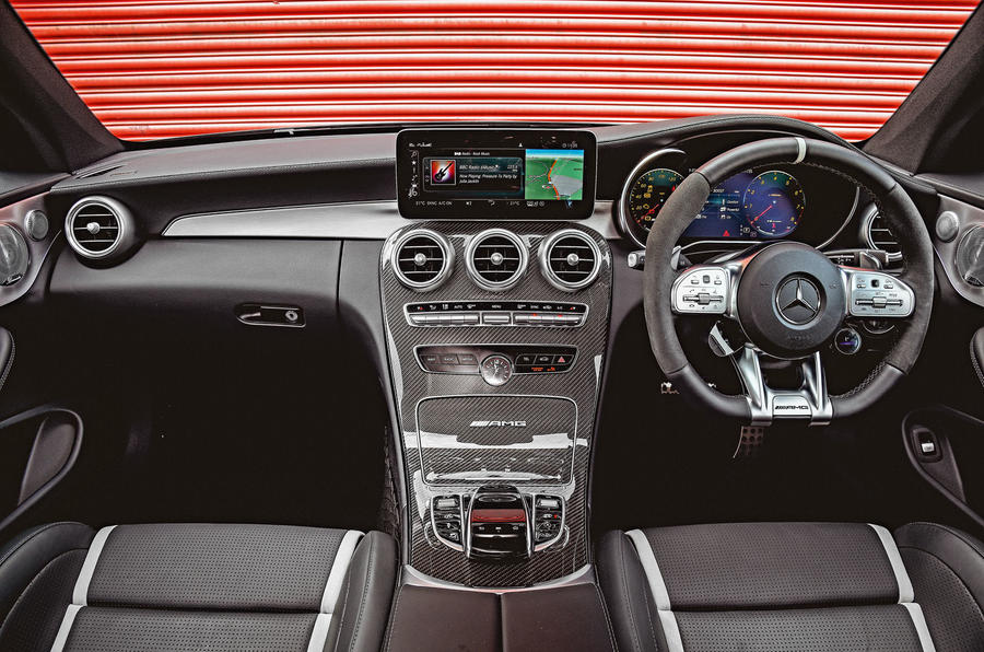 Mercedes-AMG C63 Coupé 2019 road test review - dashboard