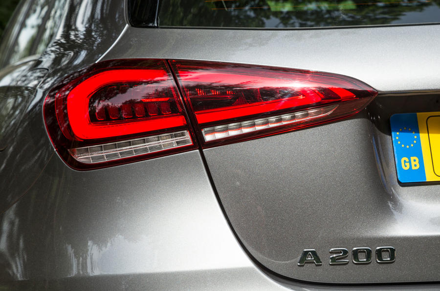 Mercedes-Benz A-Class 2018 road test review rear lights