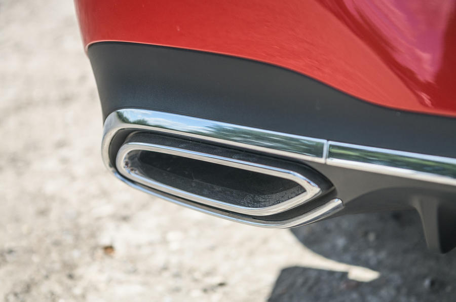 Mercedes-Benz CLA 2019 road test review - exhaust