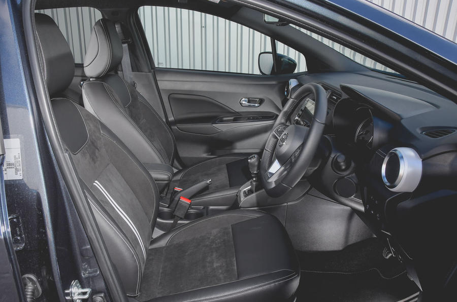 Nissan Micra N-Sport 2019 road test review - front seats