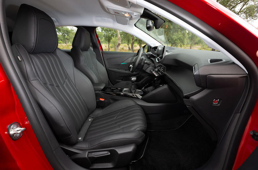 Peugeot 208 2020 road test review - front seats