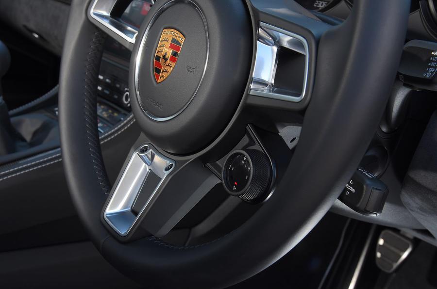 Porsche 718 Cayman GTS 2018 review steering wheel