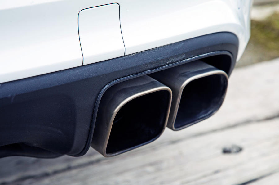 Porsche Cayenne Turbo 2018 road test review exhaust