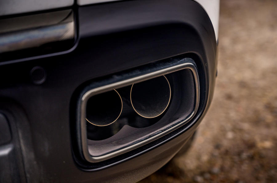 Rolls Royce Cullinan 2020 road test review - exhausts