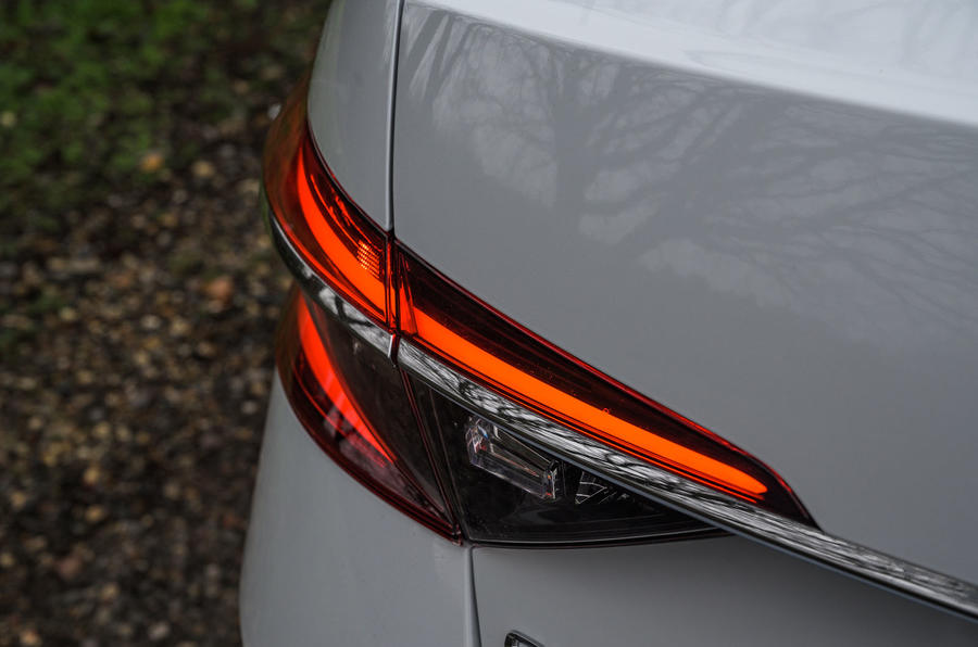 Skoda Superb iV 2020 road test review - rear lights