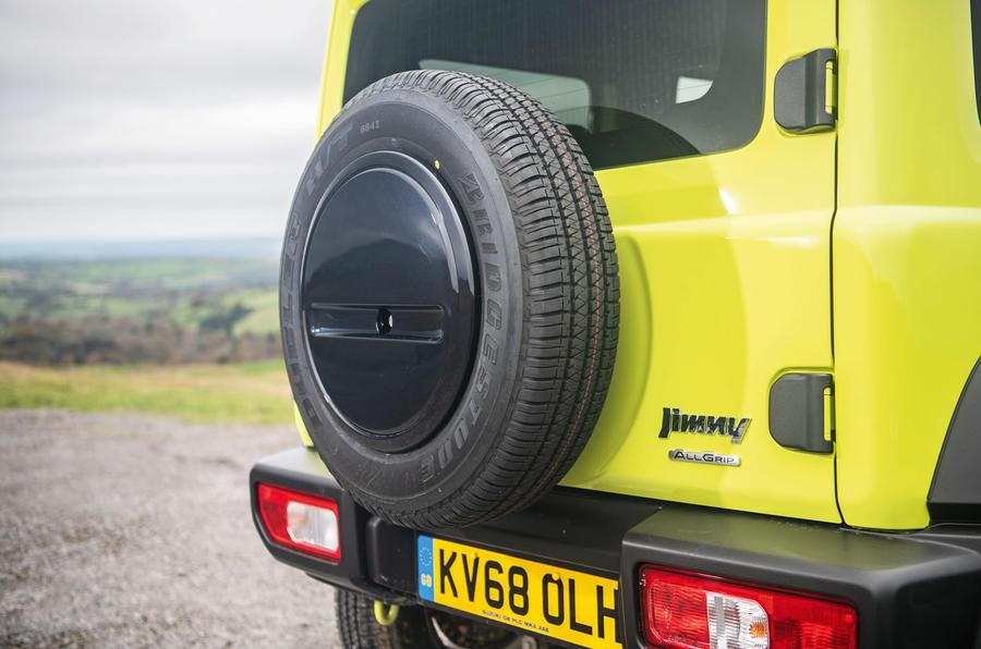 Suzuki Jimny 2018 road test review - spare wheel