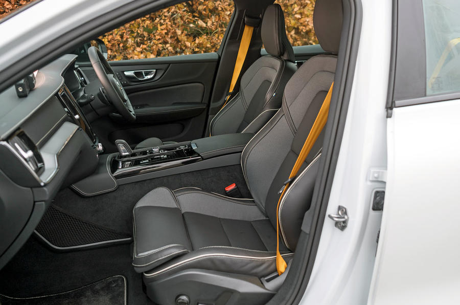 Volvo S60 Polestar Engineered 2020 road test review - front seats