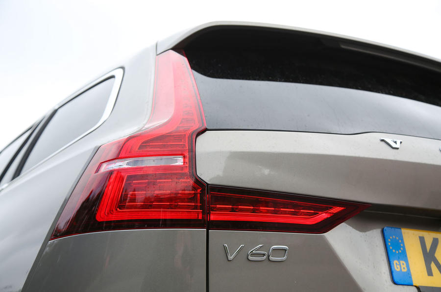 Volvo V60 2018 road test review rear lights