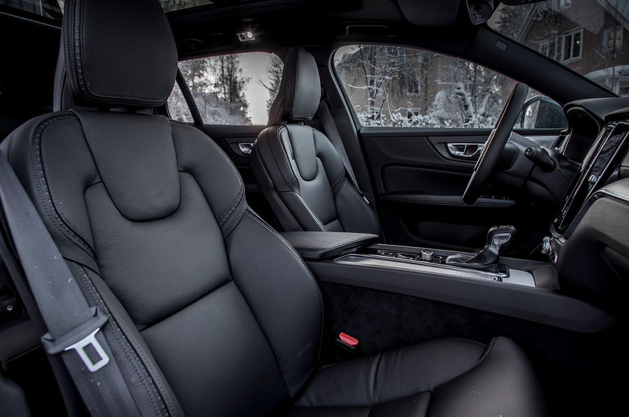 Volvo V60 Cross Country 2019 road test review - front seats