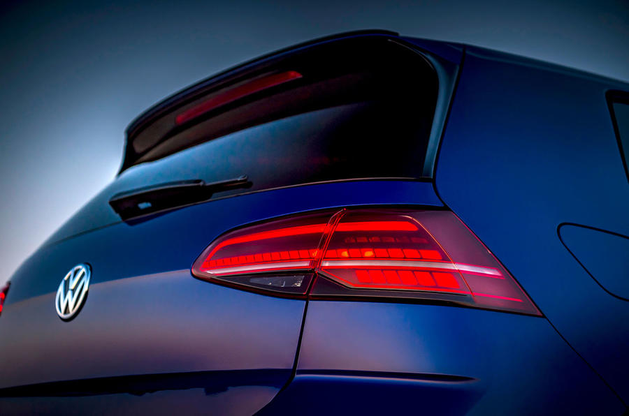 Volkswagen Golf R 2019 road test review - rear lights