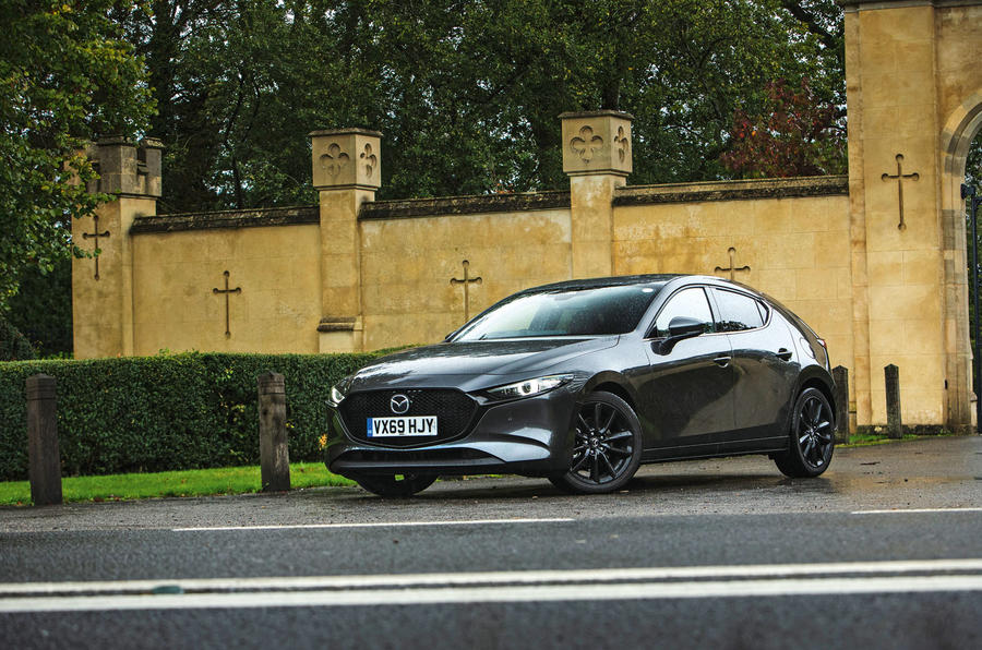 Mazda 3 Skyactiv-X 2019 road test review - static front
