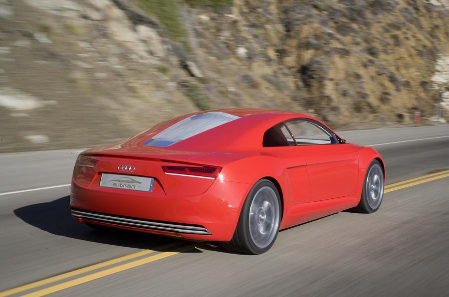 Audi e-tron rear cornering