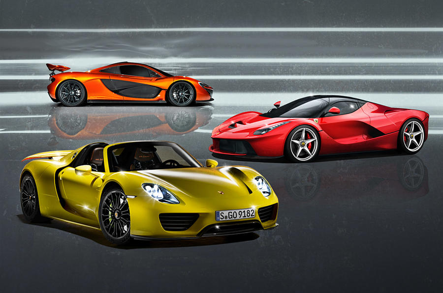 ferrari laferrari vs mclaren p1 vs porsche 918 spyder. Black Bedroom Furniture Sets. Home Design Ideas
