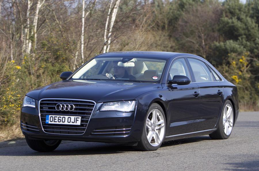 Audi A8 L hard cornering