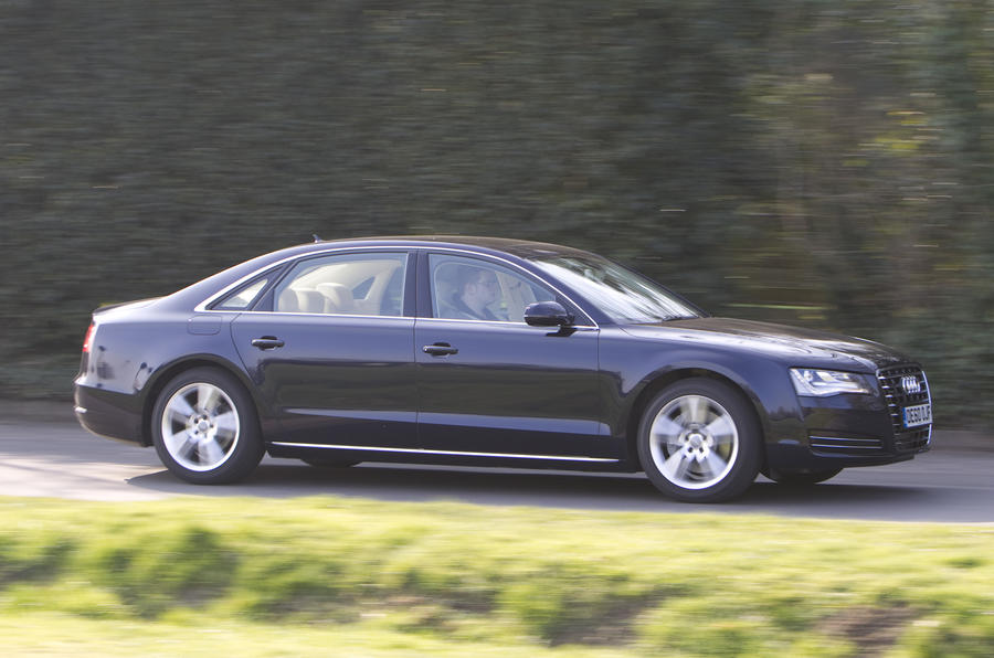 Audi A8 L side profile