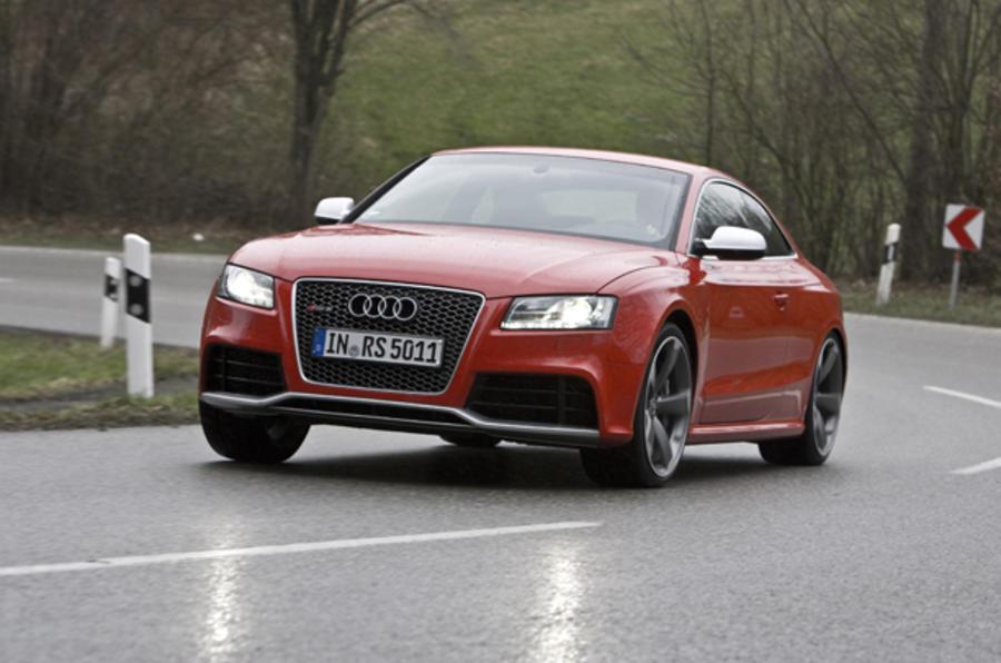 Audi RS5 hard cornering