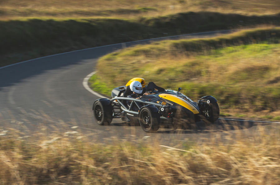 Ariel Atom 4 2019 road test review - cornering front