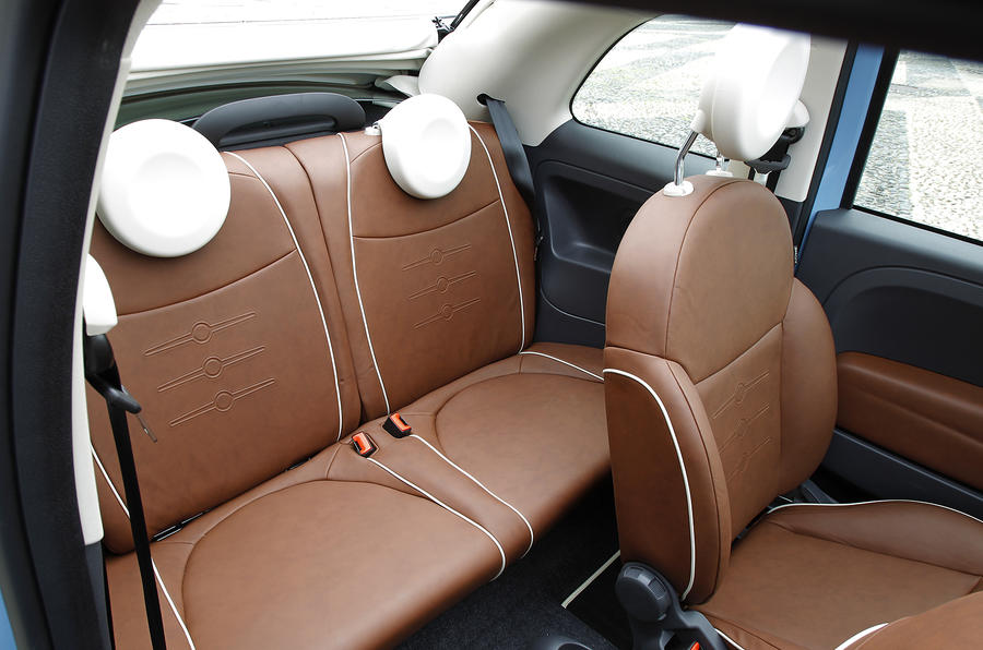 Fiat 500 TwinAir rear seats