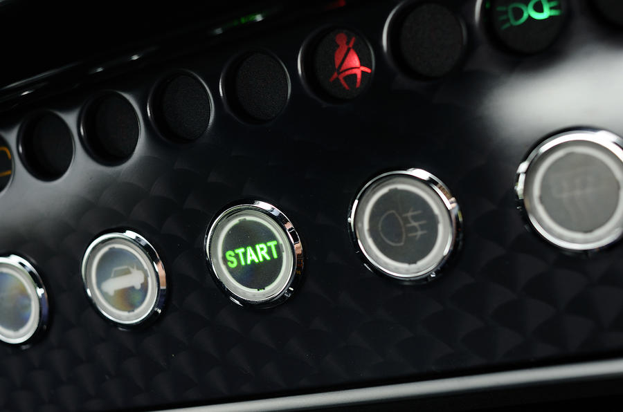 Morgan Aero Supersports switchgear
