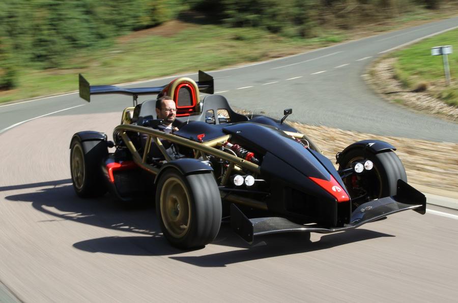 Ariel Atom V8 cornering