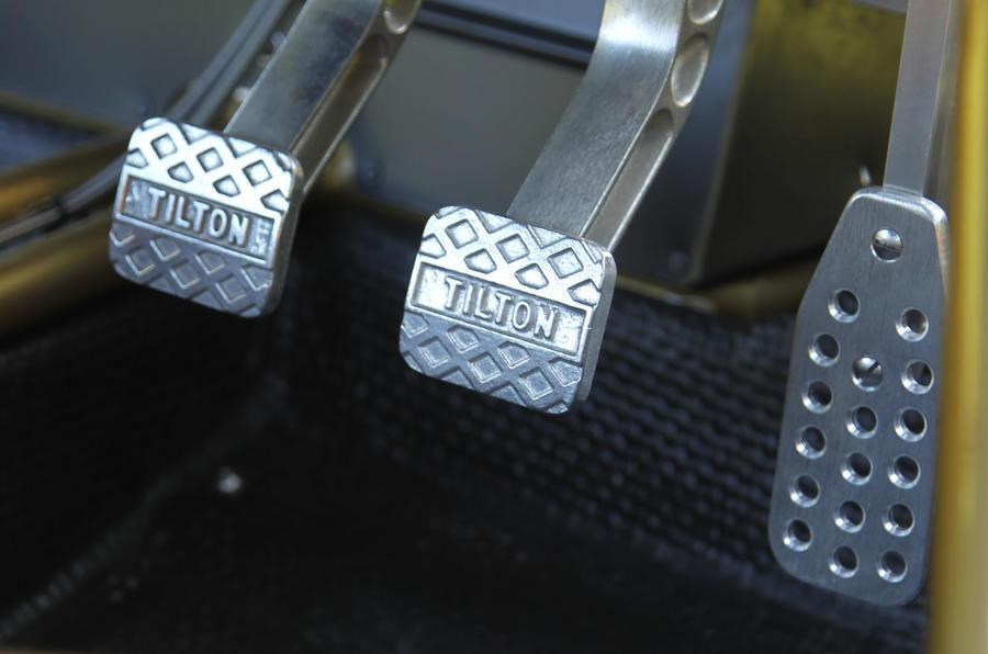 Ariel Atom V8 metal pedals